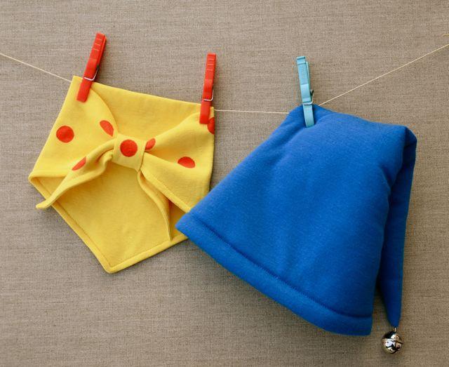 Le bonnet bleu à grelot et le foulard jaune à pois rouges de Oui,oui pour  Malo\u2026