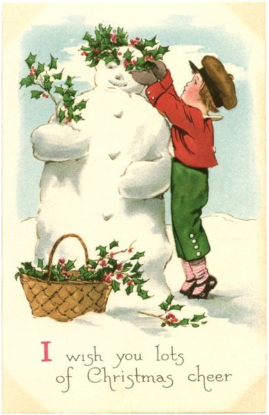 Free-Vintage-Snowman-Image-GraphicsFairy